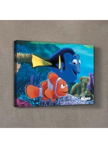 Disney Nemo & Dory-1 50x70 cm Kanvas Tablo Renkli